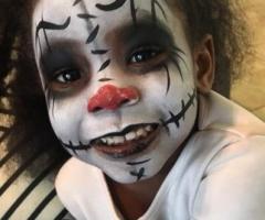 Scary Clown Face Paint Design