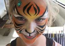 Jeweled Tiger Face Paint Design
