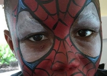 spiderman face paint design