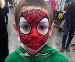 spiderman face painting design