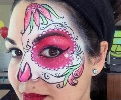 sugar skull face paint design orlando