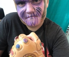 Thanos face paint