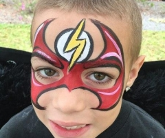the Flash Face Paint Design