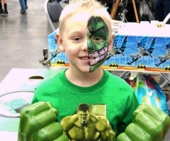 the hulk face painting design