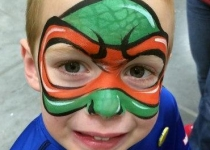 tmnt face paint design
