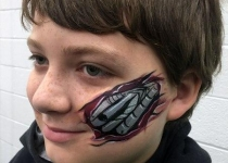 Terminator face paint design