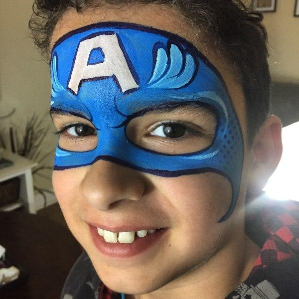 Superhero face painting orlando face painting colorful for Face painting business