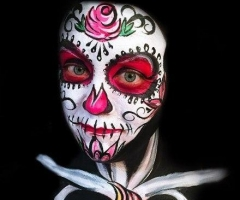 Sugar Skull Face and Body Paint