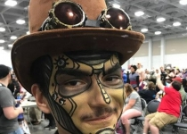 Steam Punk Face Paint Design