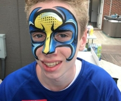 Wolverine Face Paint Design