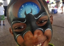 Batman Face Paint Design