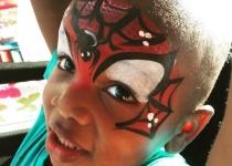 Spiderman Half Face Design