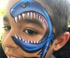 Shark Eye Face Paint Design