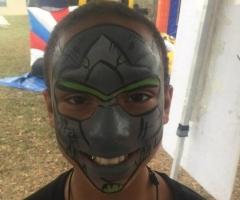 Overwatch Genji Face Paint Design