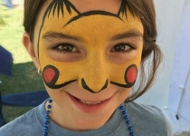 Pikachu Face Paint Design