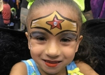 Wonder Woman Face Paint Design
