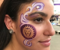 Orlando City Soccer Face Painting Design