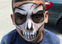 Skull Face Painting Design