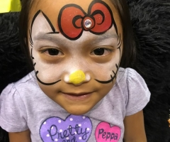 Hello Kitty Face Painting Design