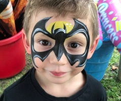 Batman Face Painting Design