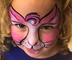 Pink Kitty Face Paint