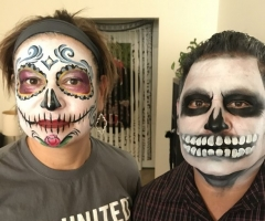 Sugar Skull & Skull Face Painting Design