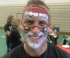 Santa Face Paint Design