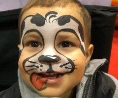 Dalmatian Face Paint Design