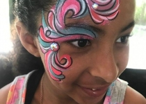 Swirl Face Paint Design
