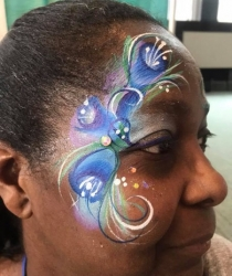 adult eye face paint design