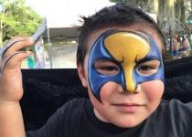 Wolverine, super hero face painting design