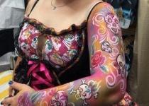 Adult Body Paint Design