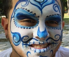 day of the dead face paint design