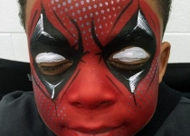 dead pool face paint design
