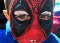 deadpool face paint design