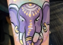 elephant face paint design