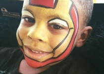Iron Man Face Painting Design