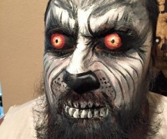 Wolf Man Face paint Design