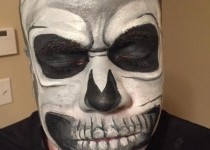 Skull Face Painting Design
