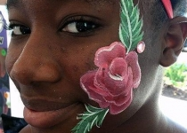 rose face painting design