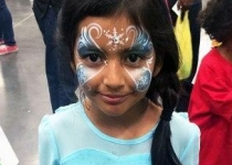 frozen face paint design