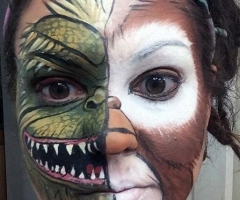 gremlin / mogwai face paint design