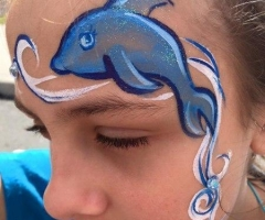 Dolphin Face Painting Design