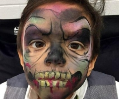 kid zombie face paint design