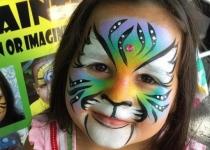 Colorful Tiger Face paint design