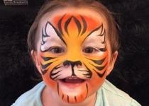 Tiger Face Paint Design