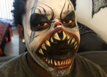 Scary Clown Face Paint Design