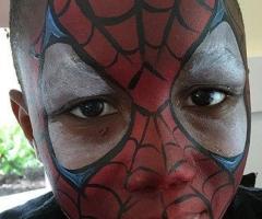 spiderman face paint design