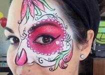 sugar skull face paint design orlando