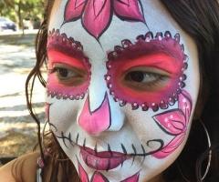 sugar skull face paint design